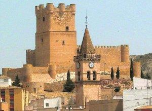 castillo de Villena campanario de Santiago