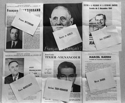 foto montage elecciones francesas 1965