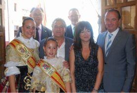 Celia Lledó y Ripoll con el pregnero 5 de septiembre 2010