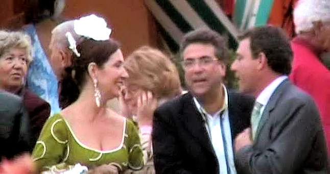 En la Feria de Sevilla La mujer de Ripoll con Ortiz y Gregory