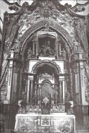 Retablo de Santiago quemado en 1936