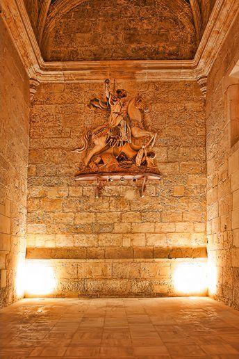 Santiago Matamoros en su estancia actual, Sala Capitular de ls Sacristía del arcedianato de Santiago Apostol en Villena