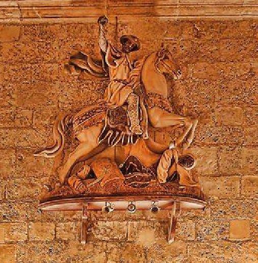 Santiago Matamoros escultura del retablo de Antonio Navarro Santafé
