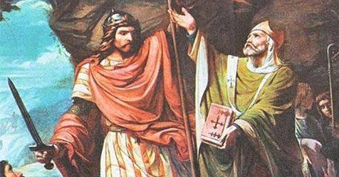 Don Pelayo, un «franquista» fallecido 1.200 años antes de la Guerra Civil
