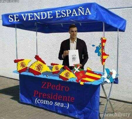 SE VENDE ESPAÑA SI ME VOTAIS